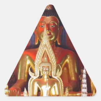 Chang Mai Buddhist Temple Thailand Gold Buddha Triangle Sticker