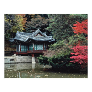 Changdok Palace in fall Full Color Flyer