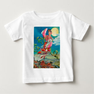 Chang'e 嫦娥 Flying to the Moon Mid-Autumn Festival Baby T-Shirt