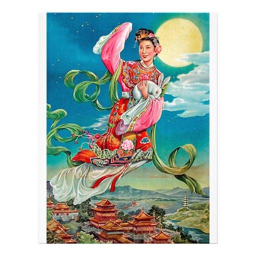 Chang'e 嫦娥 Flying to the Moon Mid-Autumn Festival Custom Letterhead