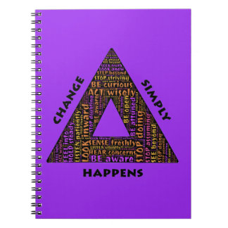 change-594558 TYPOGRAPHY CHANGE SIMPLY HAPPENS TRI Notebook