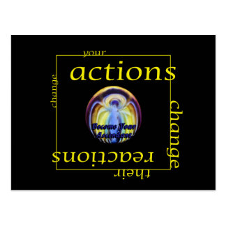 Change Actions and Reactions Postcard