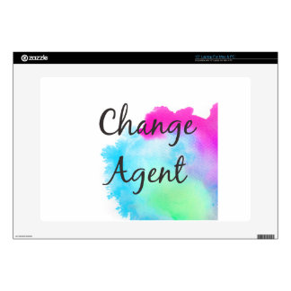 "Change Agent Decals For 15"" Laptops"