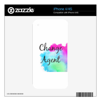 Change Agent Decals For iPhone 4