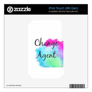Change Agent iPod Touch 4G Decals