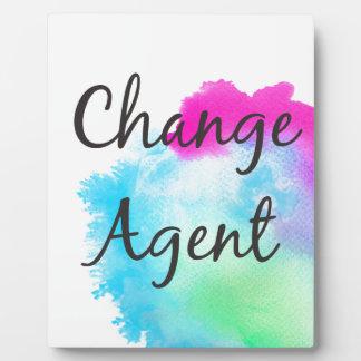 Change Agent Plaque