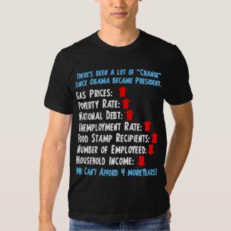 Change - Anti Obama 2012 Tee Shirt
