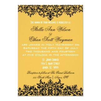 Change Background Color Black Flourish Invitation
