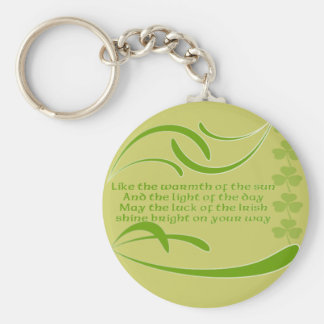 Change Background Color -Irish Blessing Key Chains