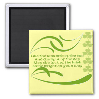 Change background color-Irish Blessing Magnet