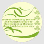 Change background color-Irish Blessing Round Stickers