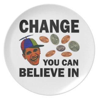 Change Believe Melamine Plate