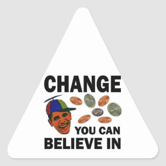 Change Believe Triangle Sticker