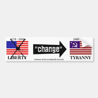 """""""change"""" bumper sticker"""
