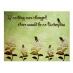 Change Butterfly Quote Postcard