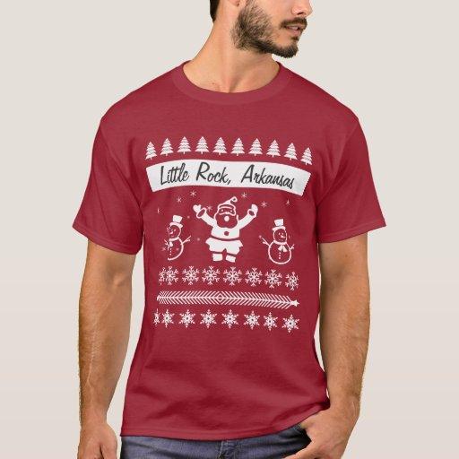 Change City Name Ugly Christmas Sweater Santa