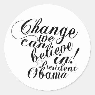 change classic round sticker