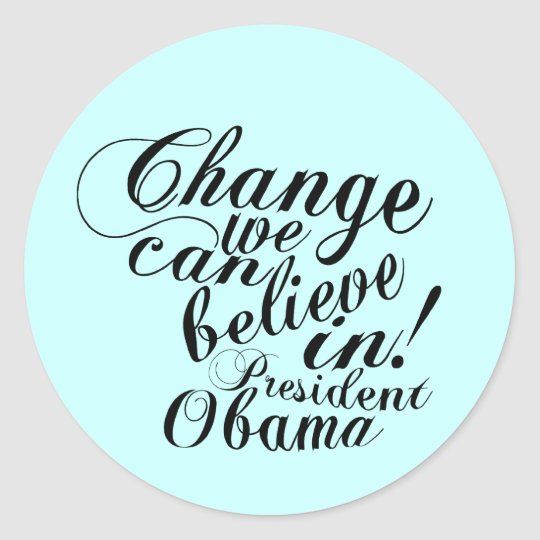 change classic round sticker