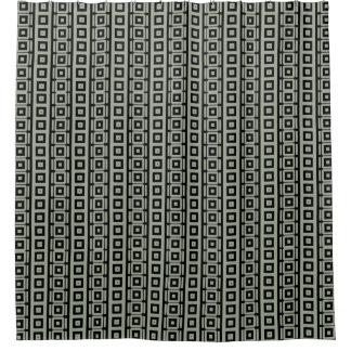 Retro Masculine Squares Pattern Shower Curtain