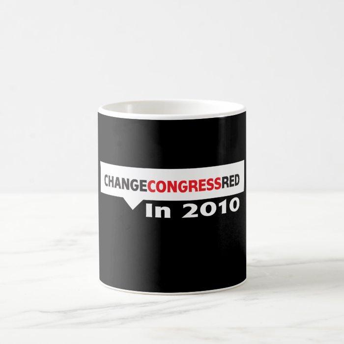 Change Congress Red in 2010 Coffee Mug