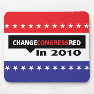 Change Congress Red in 2010 Mouse Pad