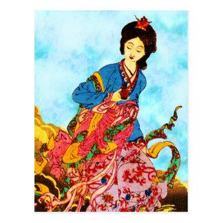 Chang'e, diosa de la luna tarjetas postales