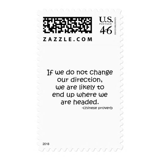 Change Direction quote Stamps