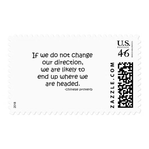 Change Direction quote Postage