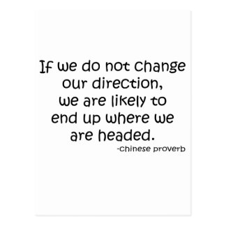 Change Direction quote Post Cards