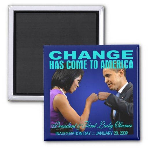 Change - Fist Bump Magnet (blue)
