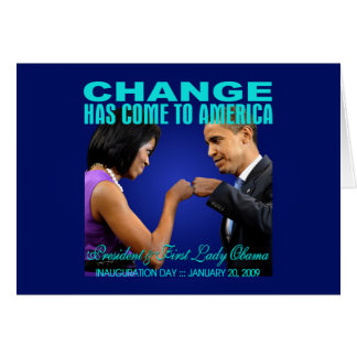 Change - Fist Bump (navy) Greeting Card