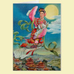 Chang'e Flying to the Moon Card