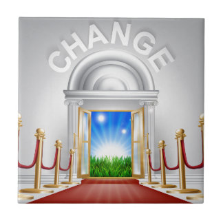 Change for the better concept small square tile