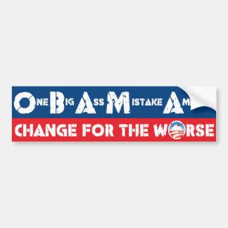 Change for the Worse Bumper Sticker