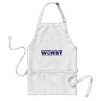 cHANGE-FOR-THE-wORST Adult Apron