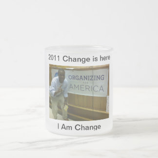 Change Frosted Glass Coffee Mug
