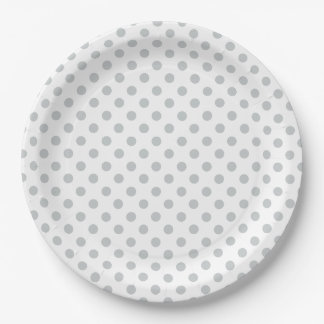 Change Grey Polka Dots Any Color Click Customize 9 Inch Paper Plate
