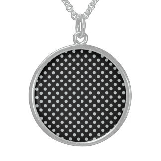 Change Grey Polka Dots Any Color Click Customize Sterling Silver Necklace