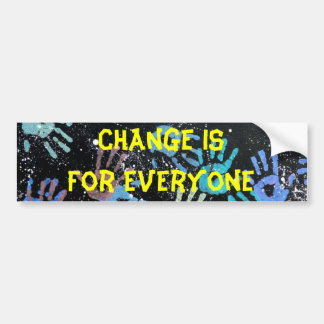 Change Hands bumper sticker