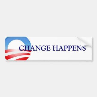 Change Happens Obama Bumper Stickers