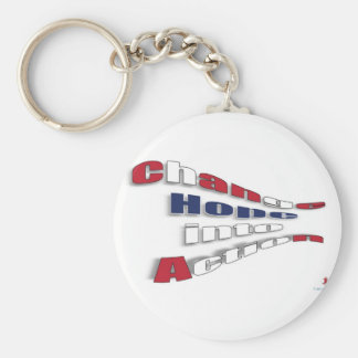 Change Hope into Action Basic Round Button Keychain