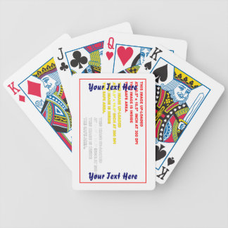 Change Image or delete Text Re-load to view Image Bicycle Playing Cards