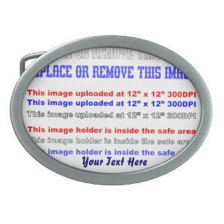 Change Image or delete Text Re-load to view Image Oval Belt Buckle