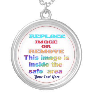 Change Image or delete Text Re-load to view Image Silver Plated Necklace