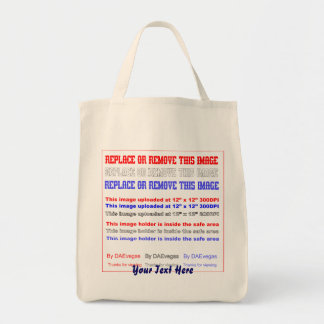 Change Image or delete Text Re-load to view Image Tote Bag