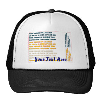 Change Image or delete Text Re-load to view Image Trucker Hat