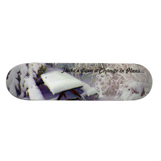 Change in Plans Snow Covered Picnic Table, Pines Skateboard Deck