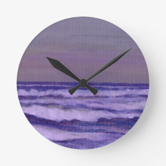 Change in the Weather Ocean Waves Seascape Round Clock