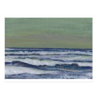 Change in the Weather Ocean Waves Storm Seascape Postcard