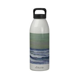 Change in the Weather Ocean Waves Storm Seascape Reusable Water Bottles